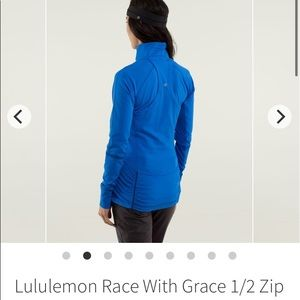 Size 4 -  Lululemon Race With Grace 1/2 Zip